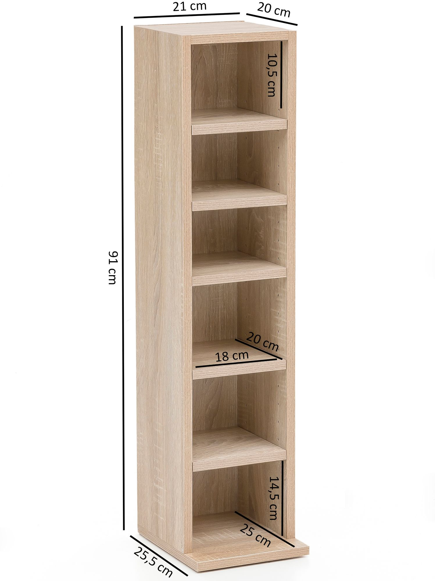 Regal 25 Holz Finebuy Design Bücherregal Sv51375 Mit 6 Fächern 21 X 91 X 25 5 Cm Standregal Holz Regal Freistehend Flur Schmales Wandregal Kinderzimmer