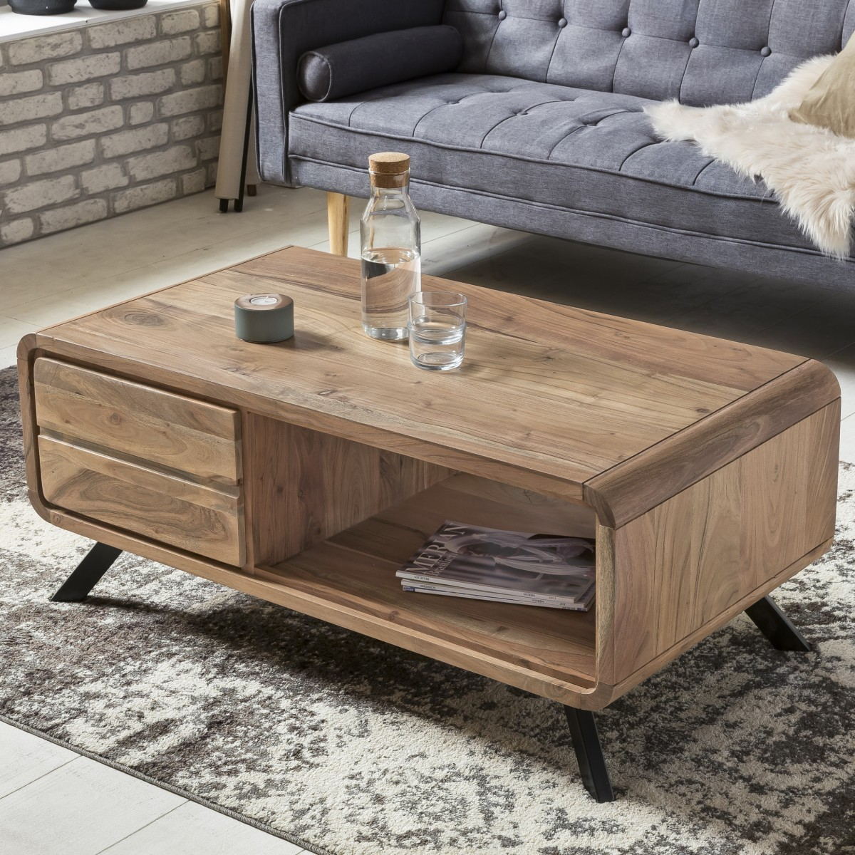 Couchtisch Sheesham Chrom Couchtisch Holz Hhe 60 Cm Beautiful Full Size Of