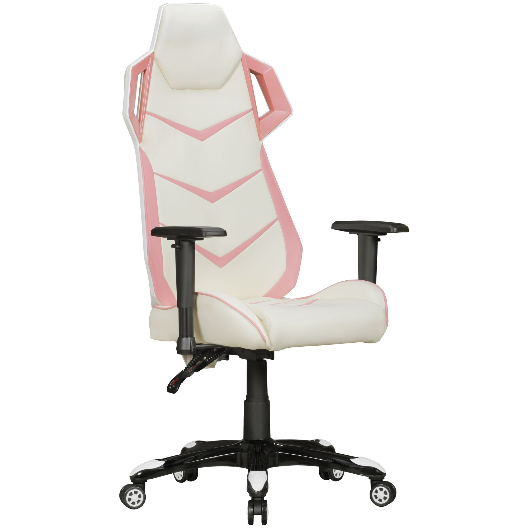 Chefsessel Racer Amstyle Gamepad Gaming Chair Aus Kunstleder In Rosa Creme Schreibtisch Stuhl In Leder Optik Design Racing Chefsessel Mit Armlehne Gamer