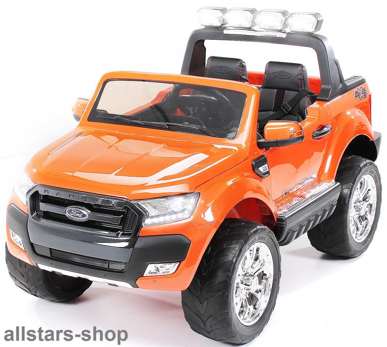 Elektroauto Kinderauto Actionbikes Kinderauto Ford Ranger Kinder E Auto 2 Sitzer 2 Kinder Orange Lackiert