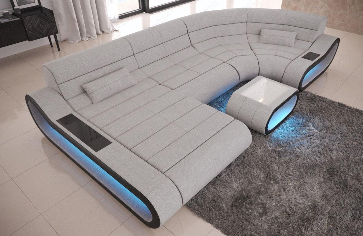 Couch Mit Led Wohnlandschaft Stoff Couch Concept Mit Led Beleuchtung