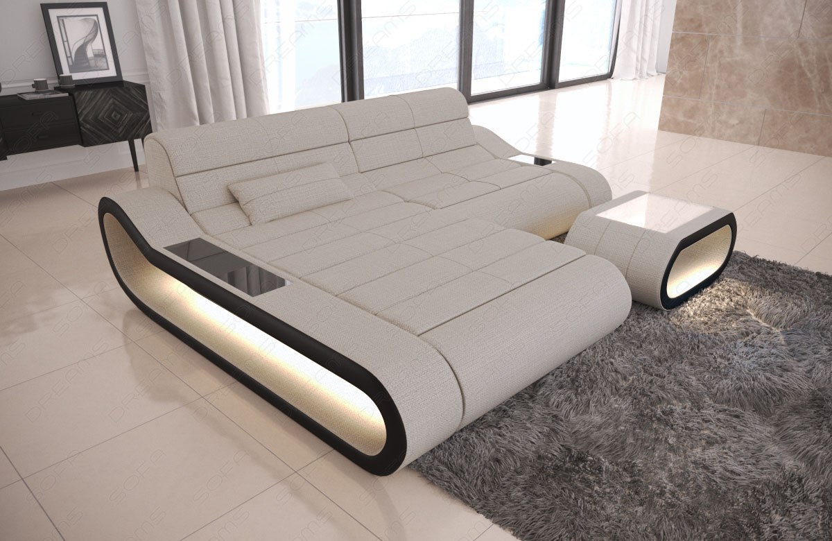 Couch Stoff Stoff Couch Concept In Der L Form Mit Led Lampen