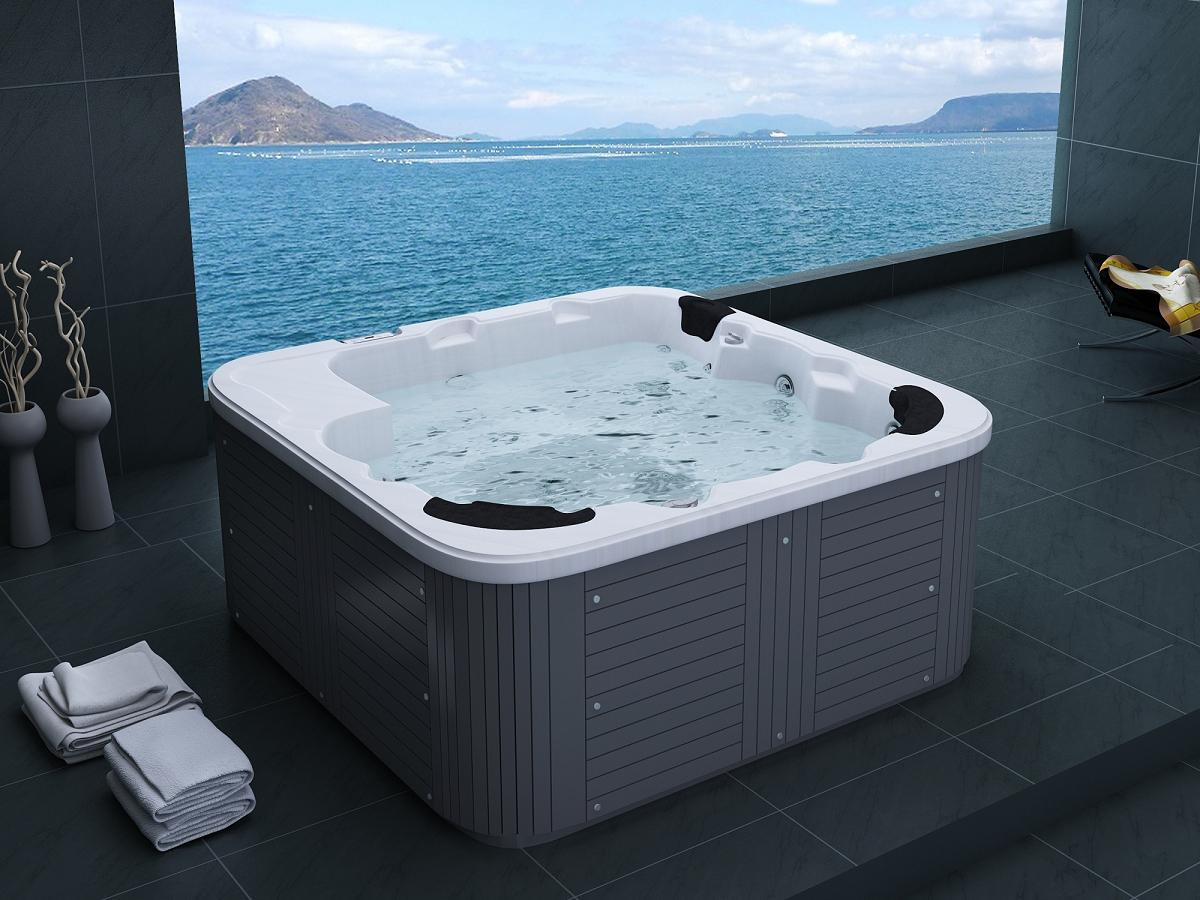 Runder Whirlpool Outdoor Whirlpool Hot Tub Weiß Spa Venedig Mit 44 Massage
