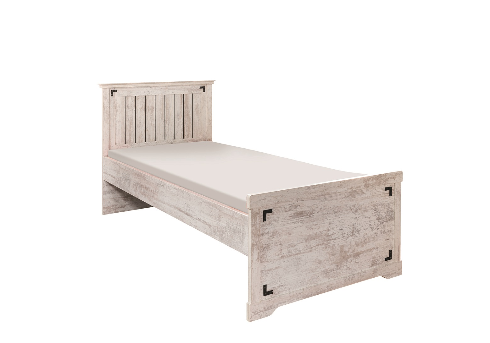 Bett 120x200 Cm Bett 120x200 Cm Woodlife In Weiss Im Landhausstil