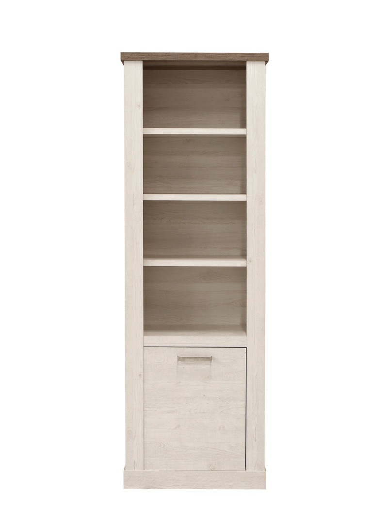 Regal Auf Schrank Regal Durio 7 Pinie Weiß 71x212x41 Cm Standregal Bücherregal Schrank