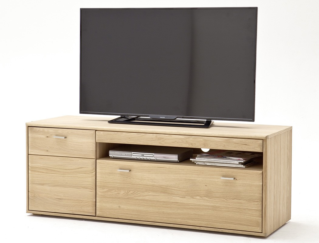 lowboard torrent 3 eiche bianco massiv 149x56x52 tv mobel tv schrank