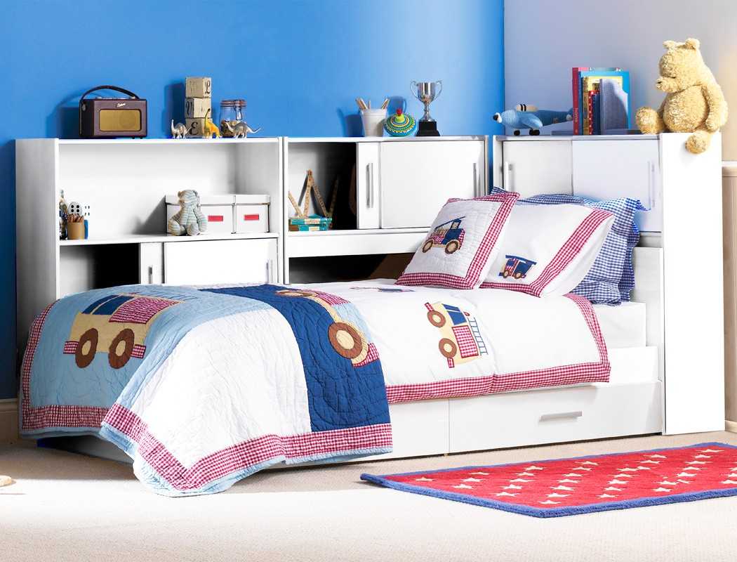 Kinderzimmer Regale Kinderzimmer Snapp 2 Weiß Bett 3x Regal 2x Bettkasten