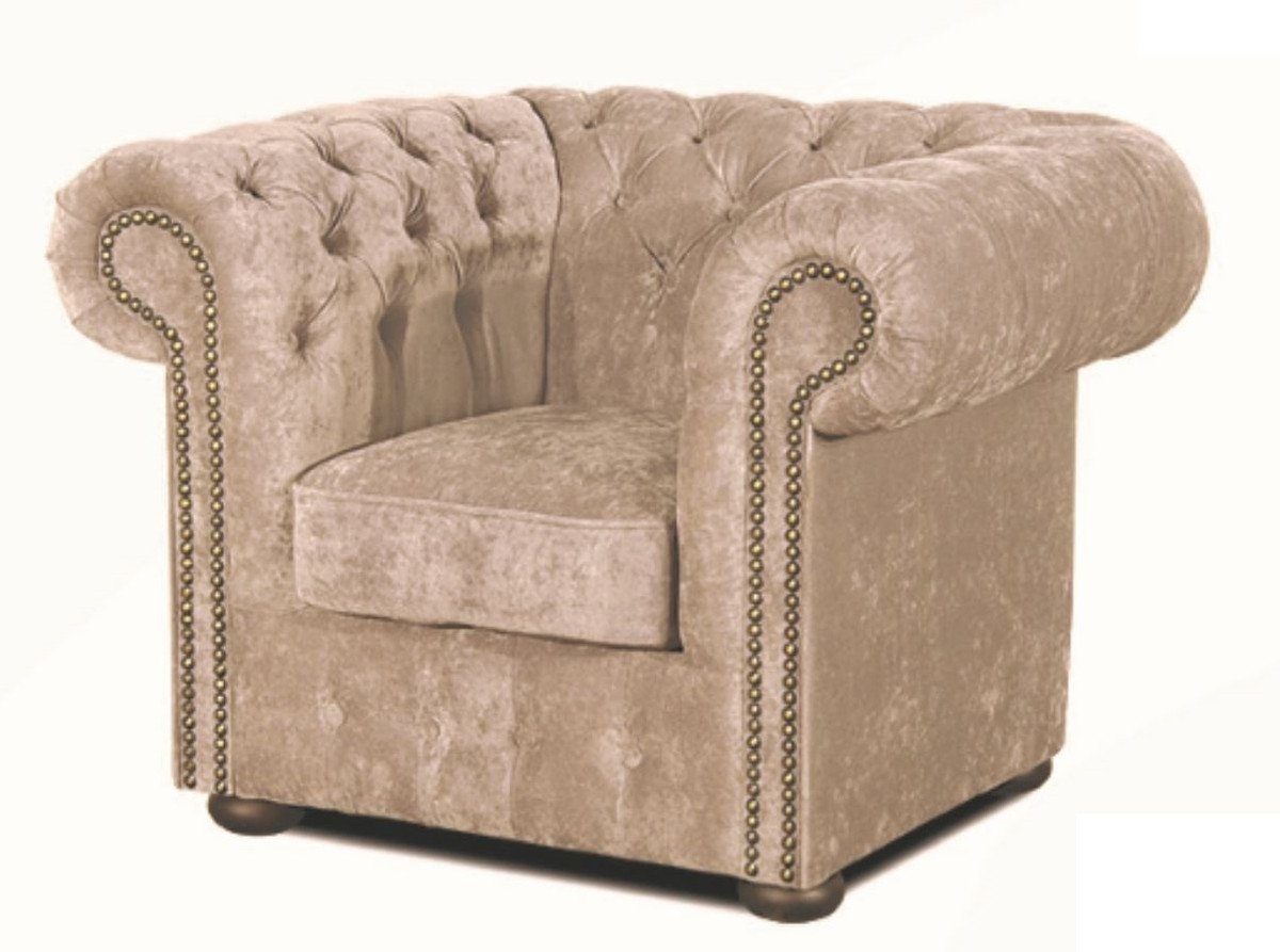 Sessel Chesterfield Casa Padrino Luxus Chesterfield Sessel Grau 110 X 90 X H 78 Cm Luxus Qualität