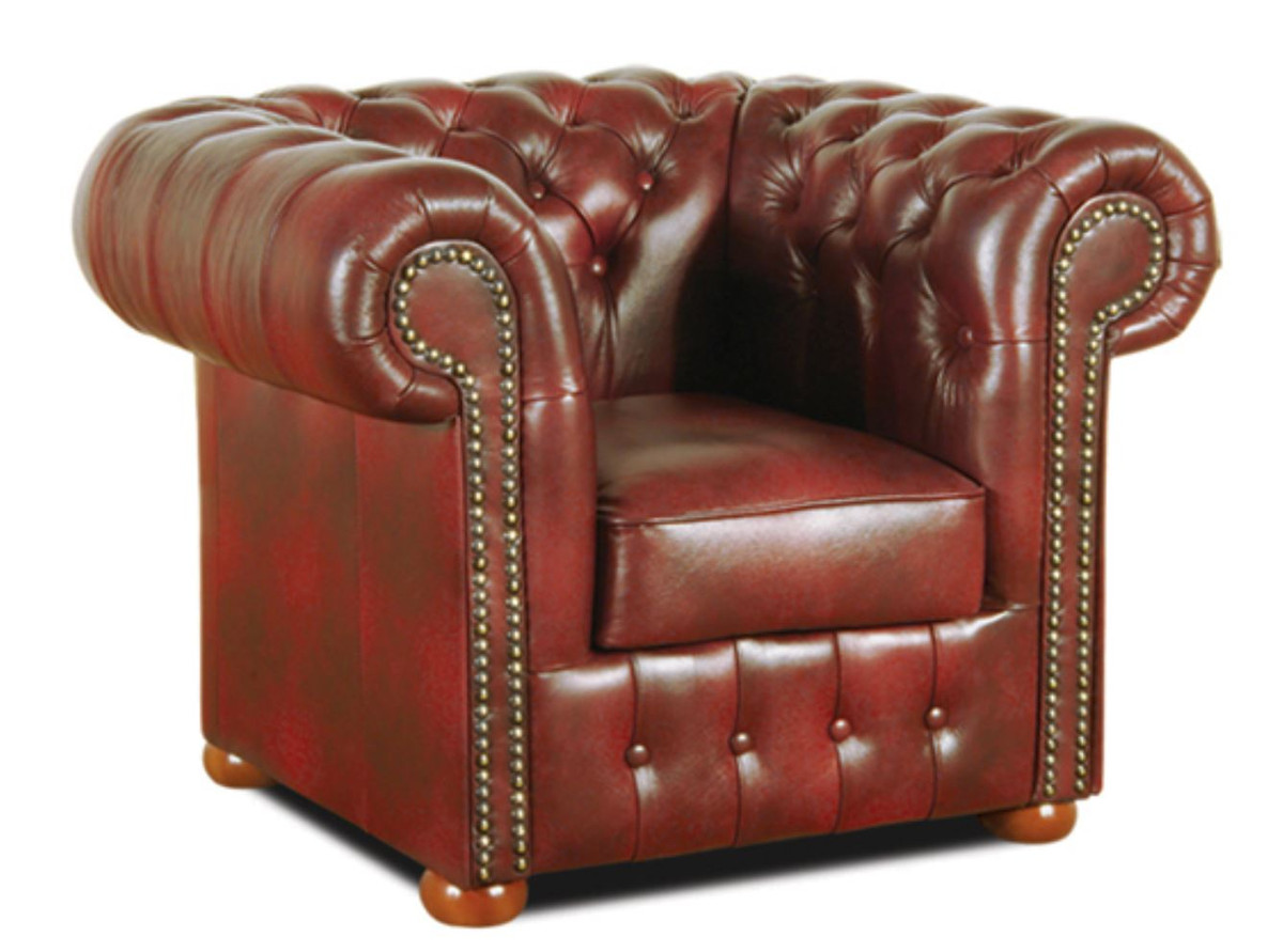 Sessel Chesterfield Casa Padrino Chesterfield Echtleder Sessel Weinrot 110 X 90 X H 78 Cm Luxus Kollektion