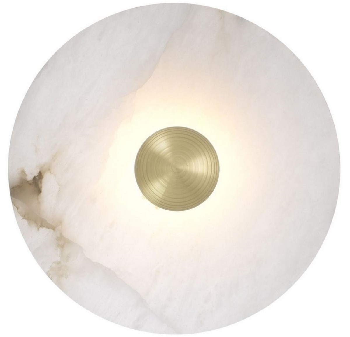 Casa Padrino Luxus Led Wandleuchte Alabaster Hell