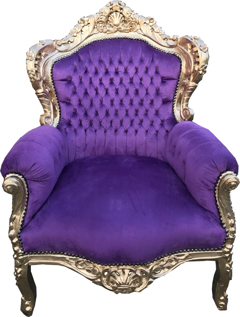 King Chair Sessel Casa Padrino Barock Sessel