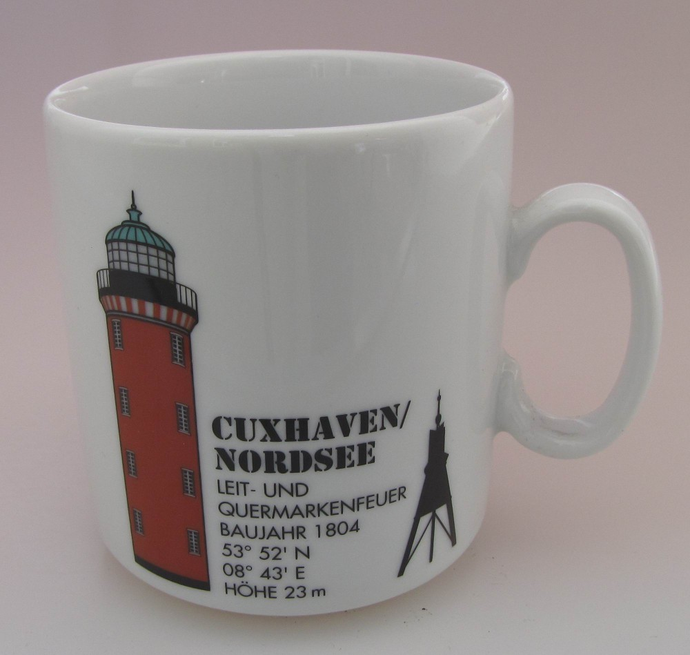 Shabby Chic Cuxhaven Leuchtturm Becher Cuxhaven Nordsee