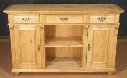 Sideboard Lowboard Highboard Anrichte Halb Schrank Massiv - Highboard Erle Massiv
