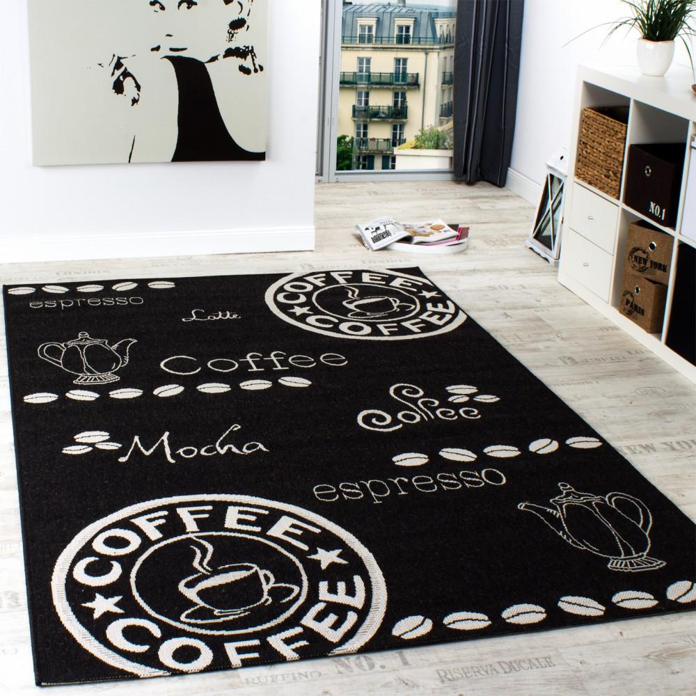 in outdoor teppich modern flachgewebe sisal optik kuchenteppich schwarz weiss