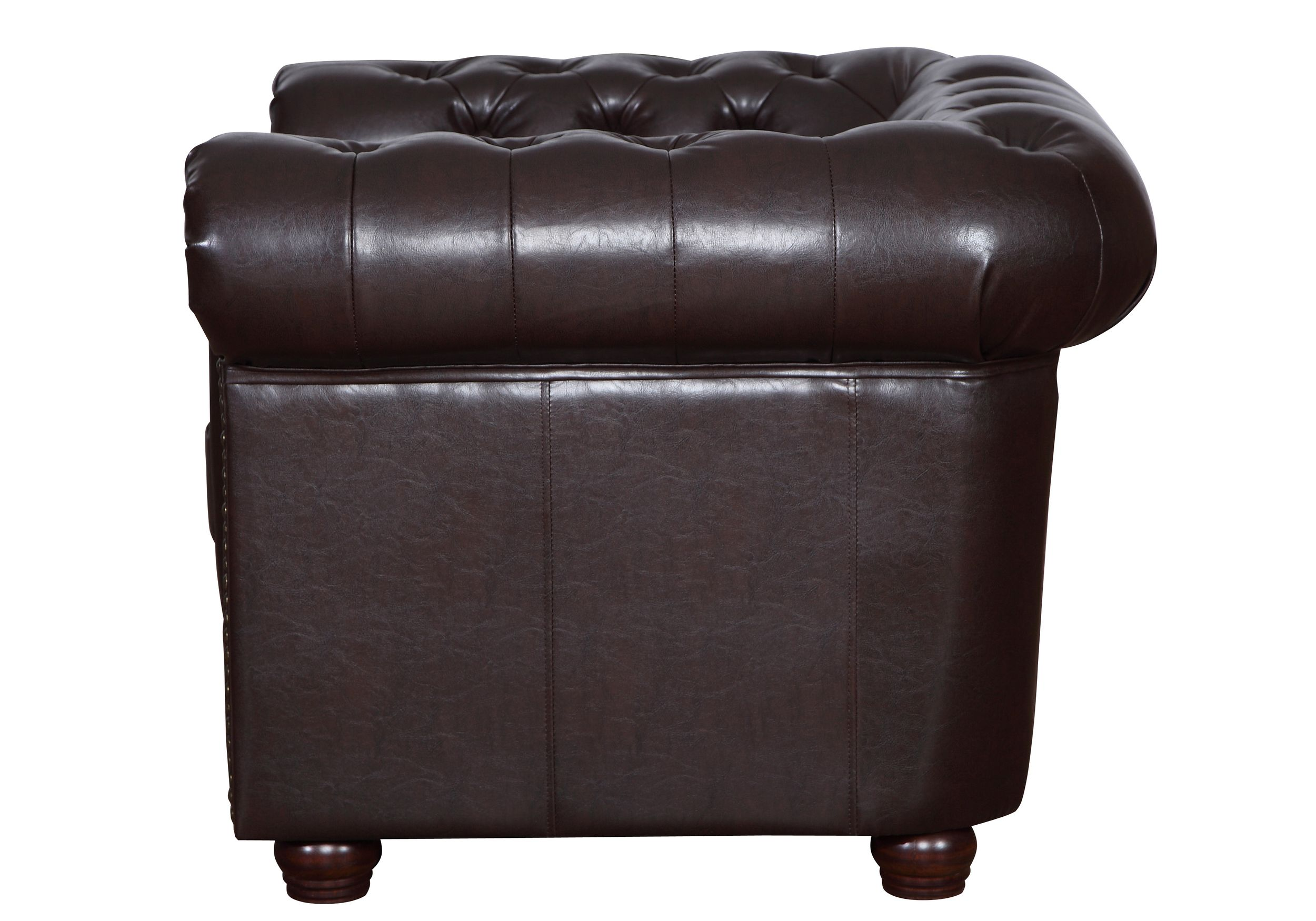 Vintage Sessel Braun Chesterfield Sessel 1 Sitzer In Kunstleder Vintage Braun Couch Polstersofa Sofa