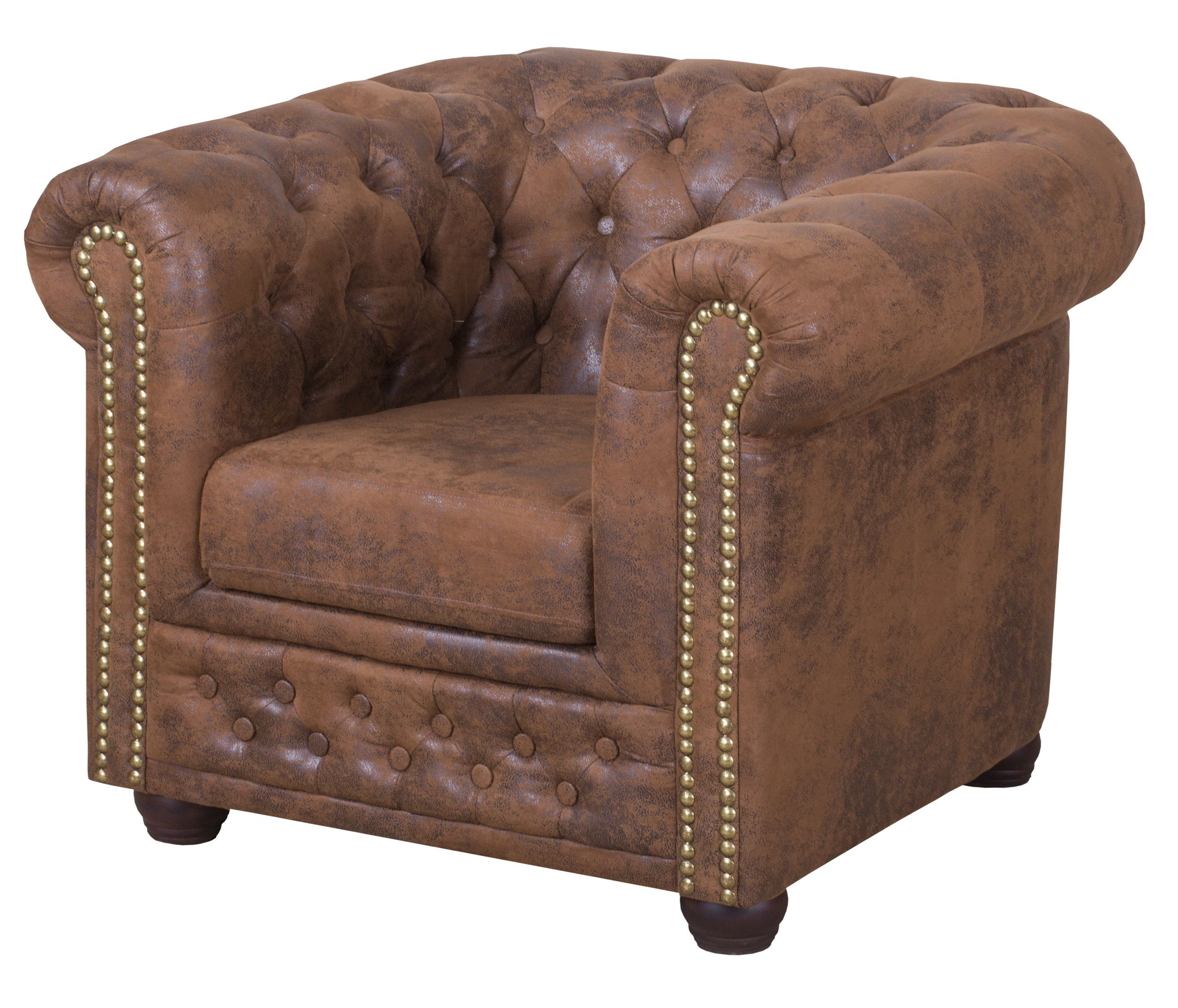 Sessel Vintage Braun Chesterfield Sessel Braun