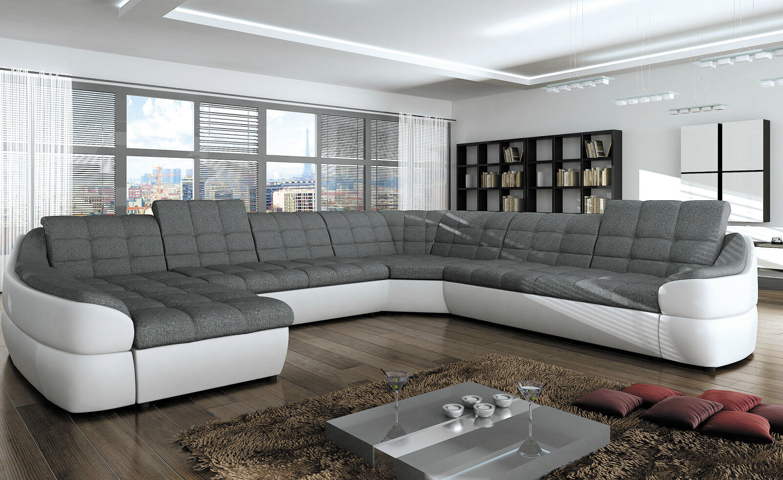 Sofa Mit Relaxfunktion Couchgarnitur Infinity Xl U Sofa Mit Relaxfunktion Couch Polsterecke Ecksofa