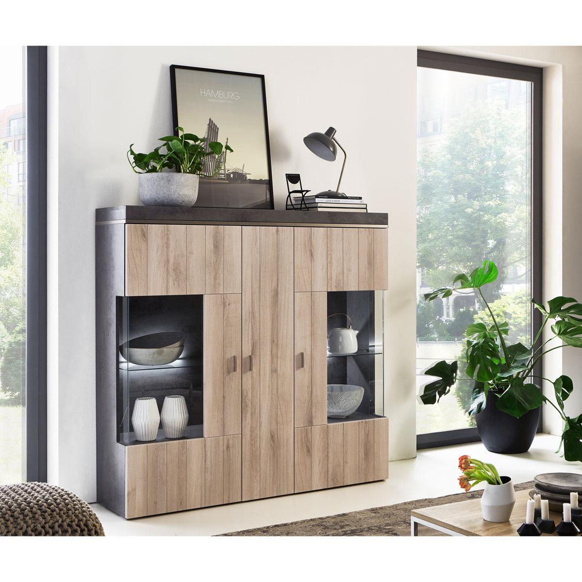 Moderne Wohnzimmer Eiche Highboard Moderne Highboards Aus Holz