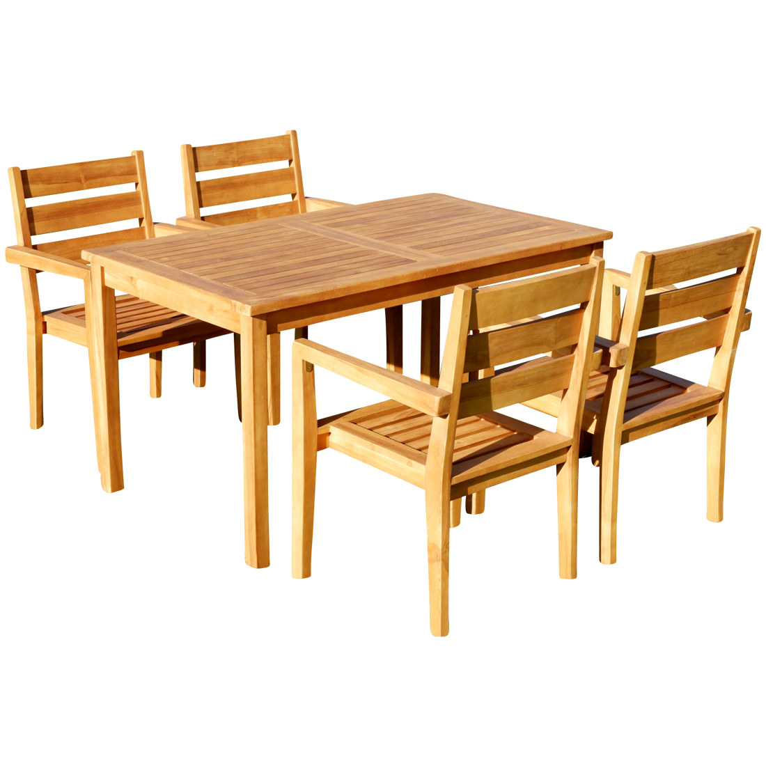 Teak Sessel Teak Set Gartengarnitur Alpen Tisch 150x80 4 Kingston Sessel Serie Jav