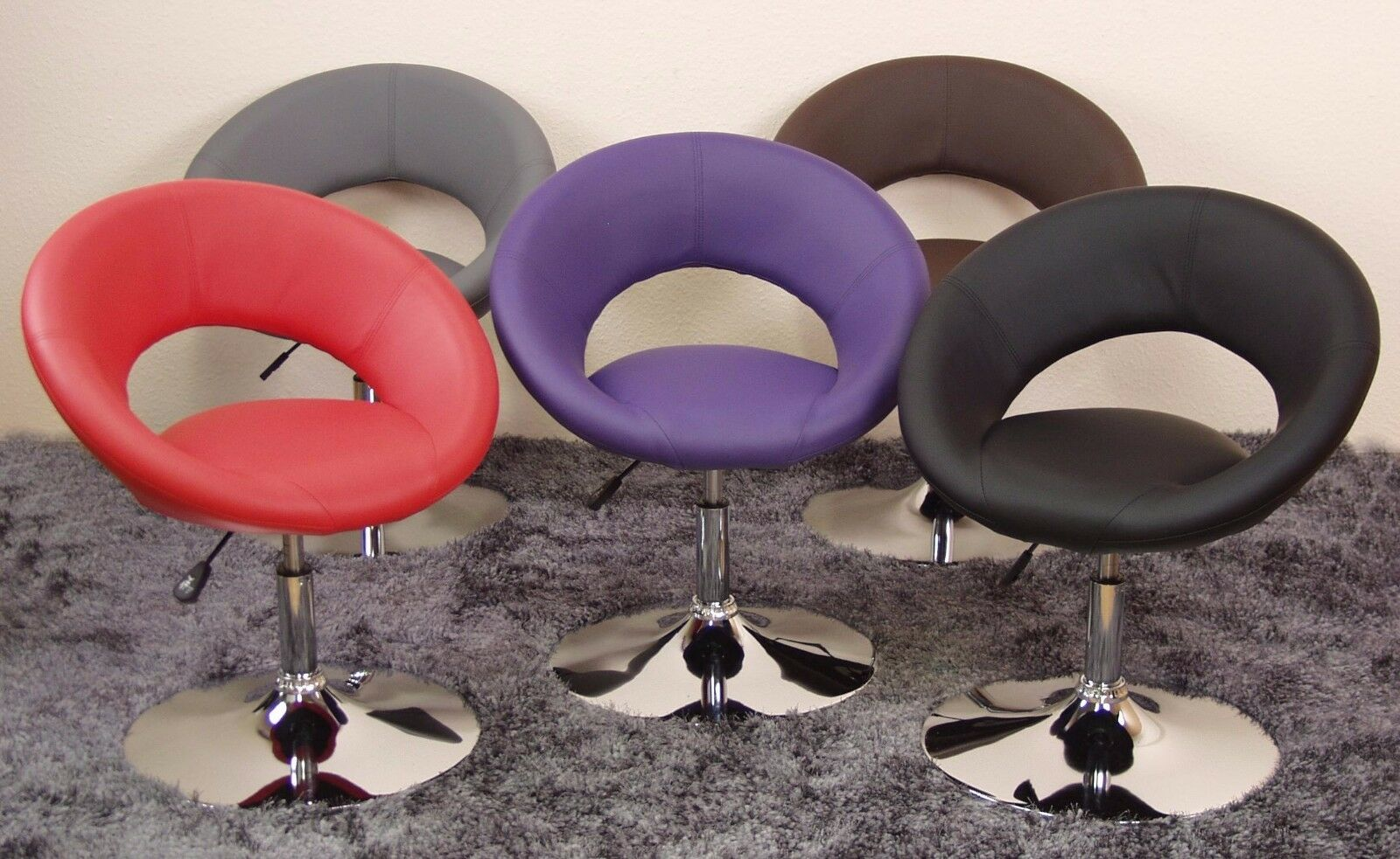 Drehsessel Rot Drehsessel Rot Chrom Cocktailsessel Sessel Clubsessel Lounge Barhocker Design