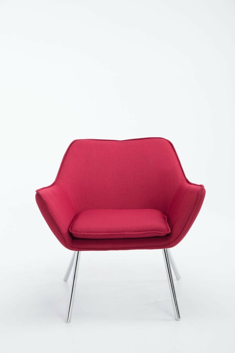 Lounge Sessel Stoffbezug Lounge Sessel Rot