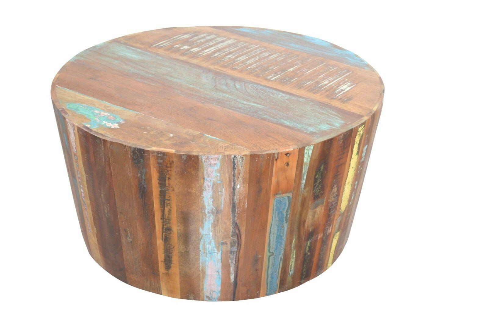 Couchtisch Vintage Rund Couchtisch Rund Massivholz Vintage Look