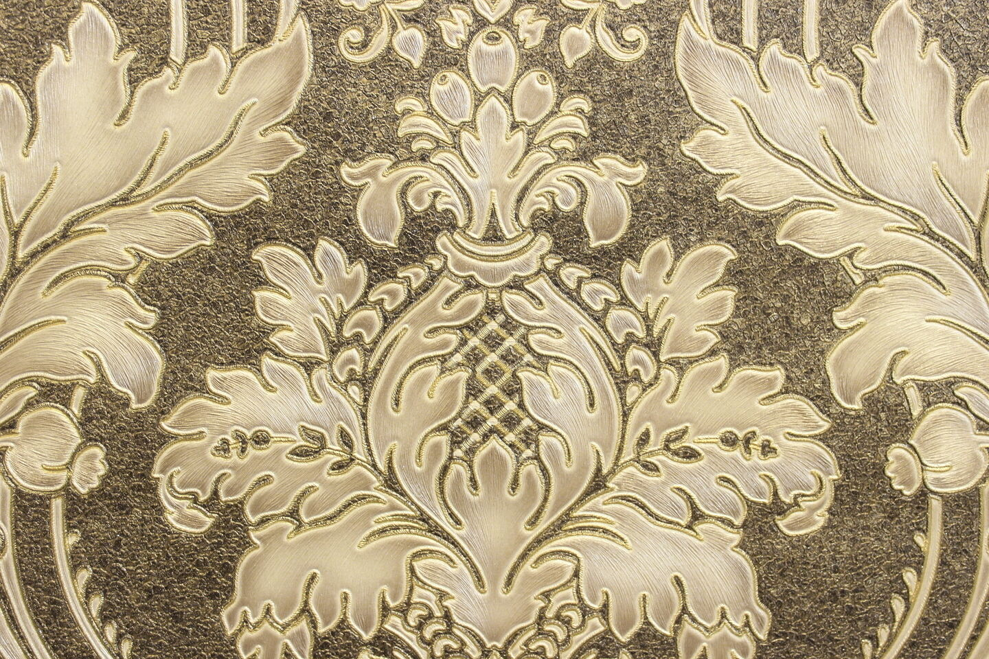 Ornament Tapeten Vlies Tapete Barock Ornament Braun Gold Beige Metallic