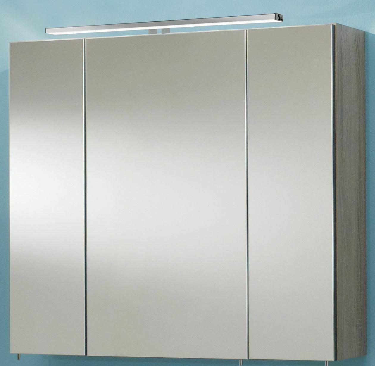 badmobel set 3 teile waschplatz 80 cm led spiegelschrank badezimmer ram 80 holz