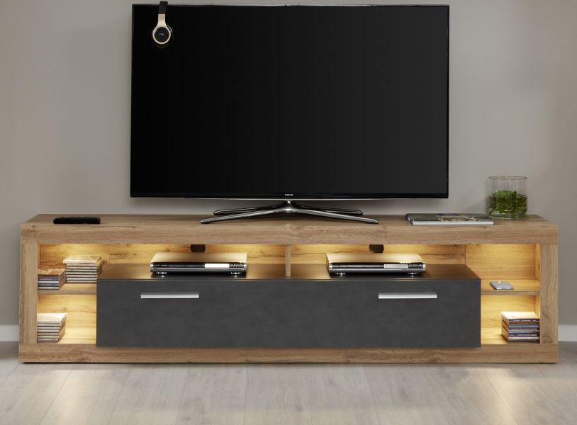 Lowboard Weiss 200 Cm Tv Lowboard Romina Sb Mobel Discount