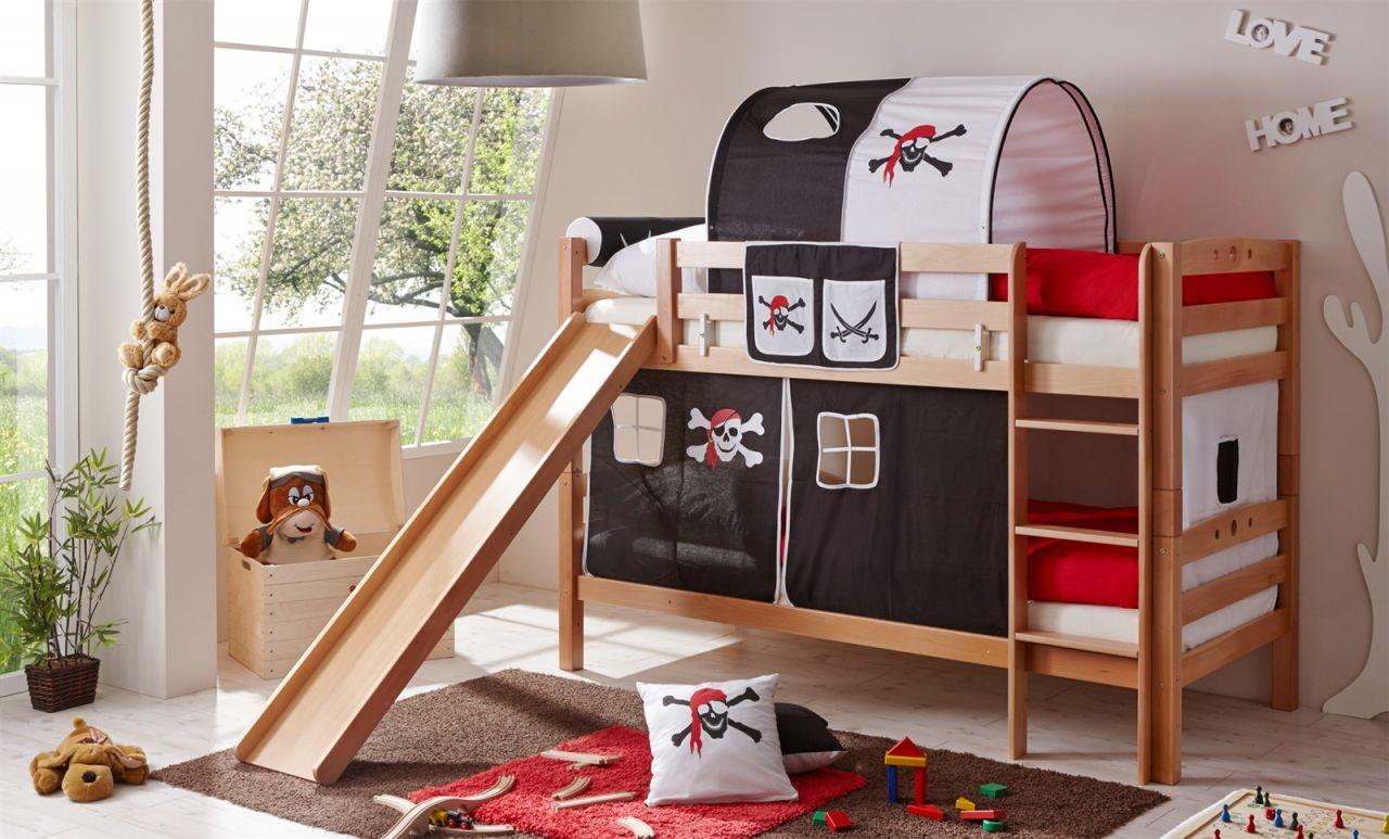 Rutsche Für Etagenbett : Hochbett mit rutsche buch weiß seemann mystylewood möbel