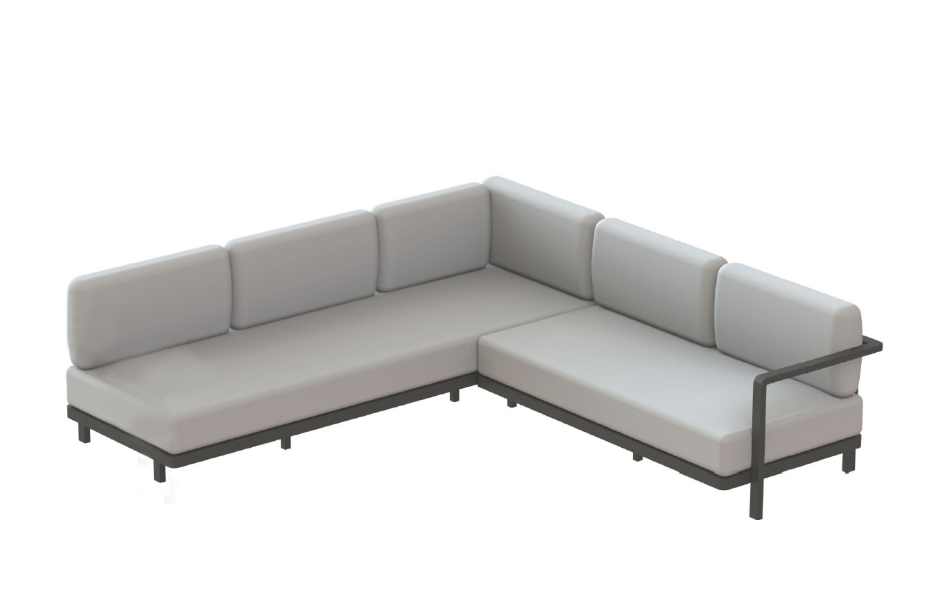 Skonto Ecksofa Royal Botania Red Label Alura Lounge Ecksofa 04 250 245 Rechts Links