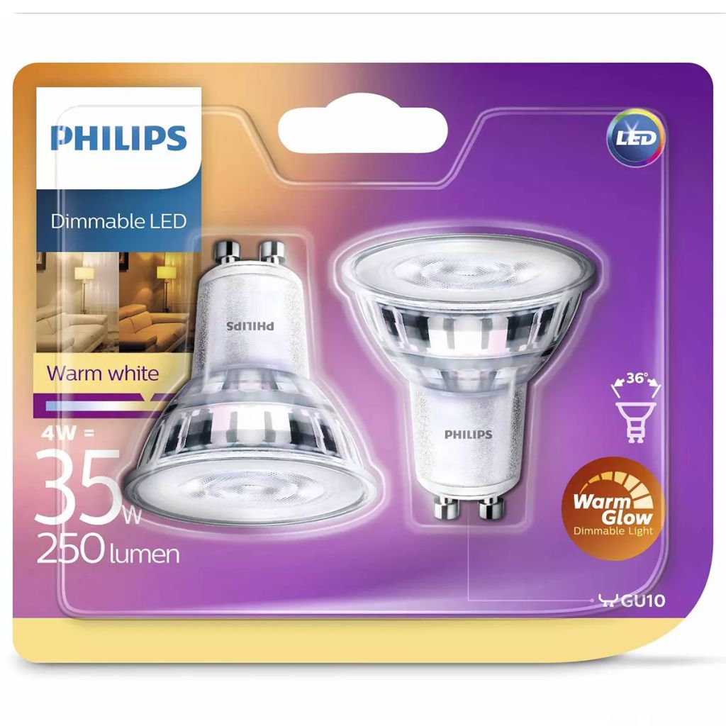Philips Led Lampen Gu10 Philips Led Lampen 2 Stk Classic 4 W 250 Lumen 929001363831