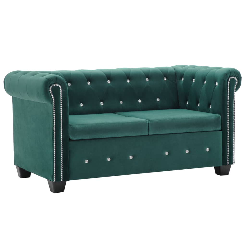 Chesterfield Sessel Stoffbezug Chesterfield Sofa Grün Samt