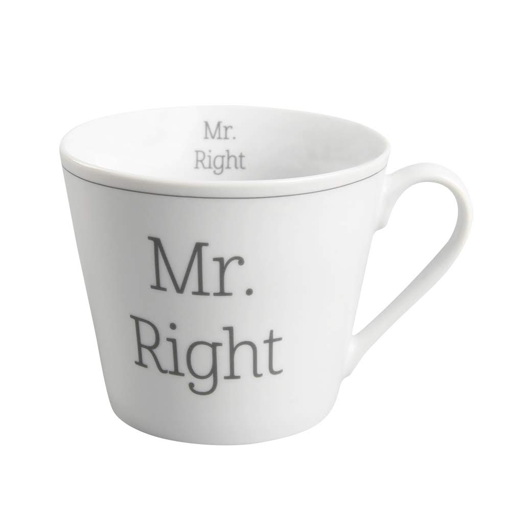 Becher Weiß Krasilnikoff Tasse Happy Cup Mr Right Porzellan Becher Weiß Mit Henkel 300 Ml