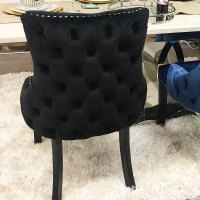 Black Tufted Back Dining Chair | Picture Perfect Home