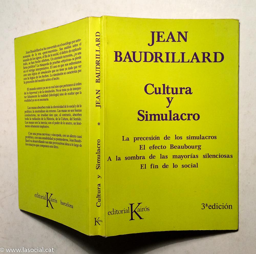 After Libros Orden Cultura Y Simulacro By Jean Baudrillard Kairós Editorial