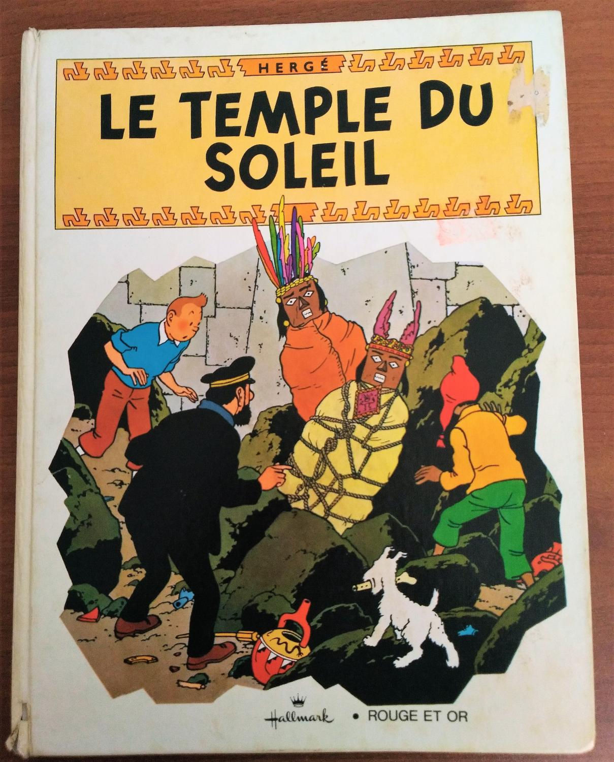 Pop Up Book Cover Foreign Language Tintin Book French