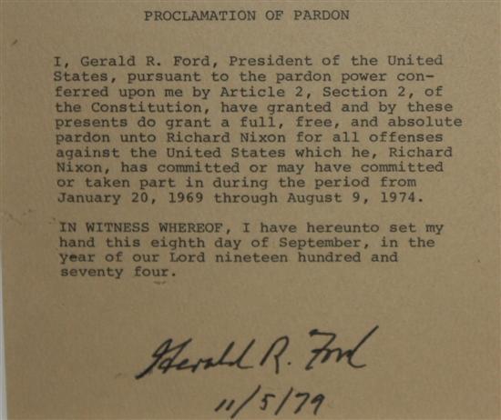 Nixon resignation letter