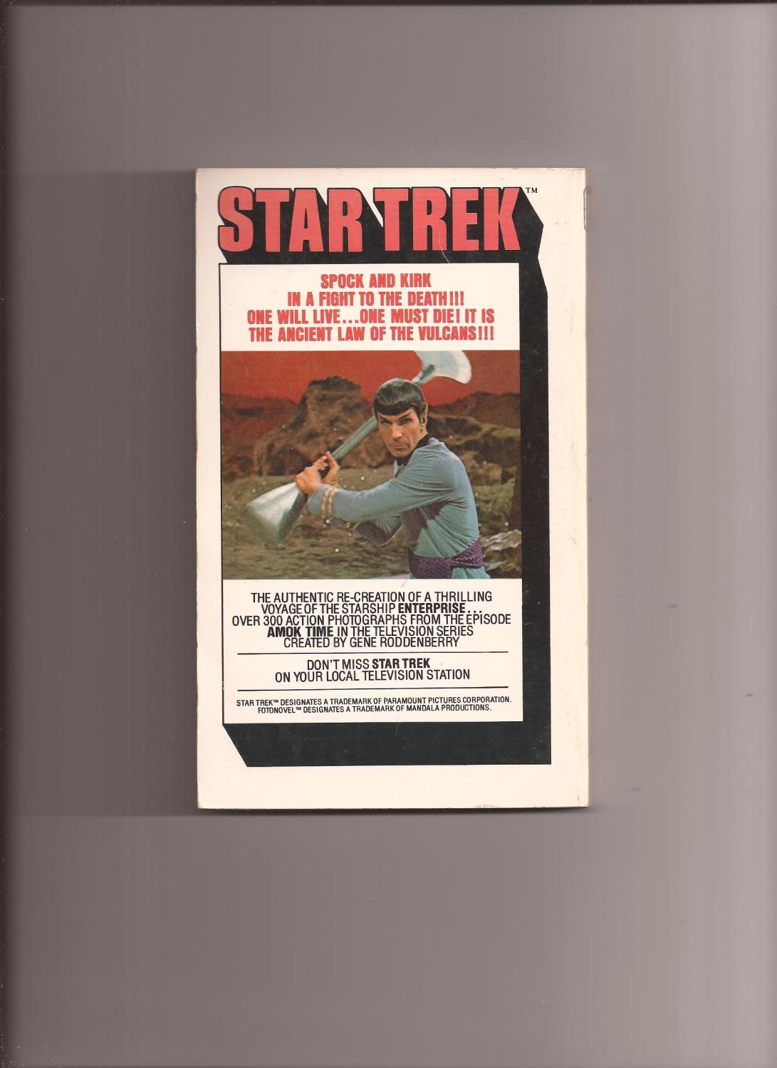 Amok Libro Star Trek Fotonovel 12 Amok Time