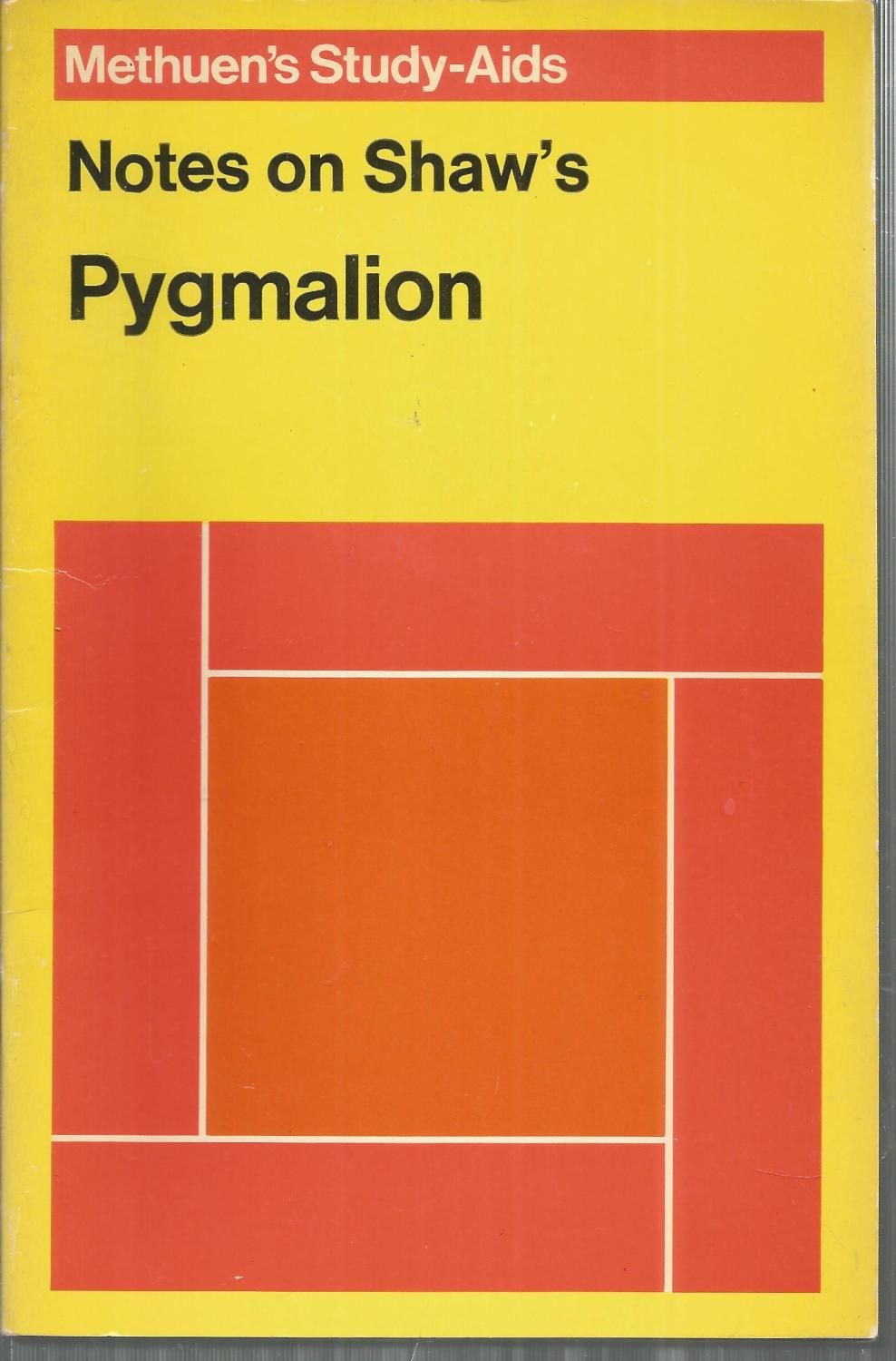 Editoriales De Libros En Ingles Notes On Shaw S Pygmalion Study Aid Series