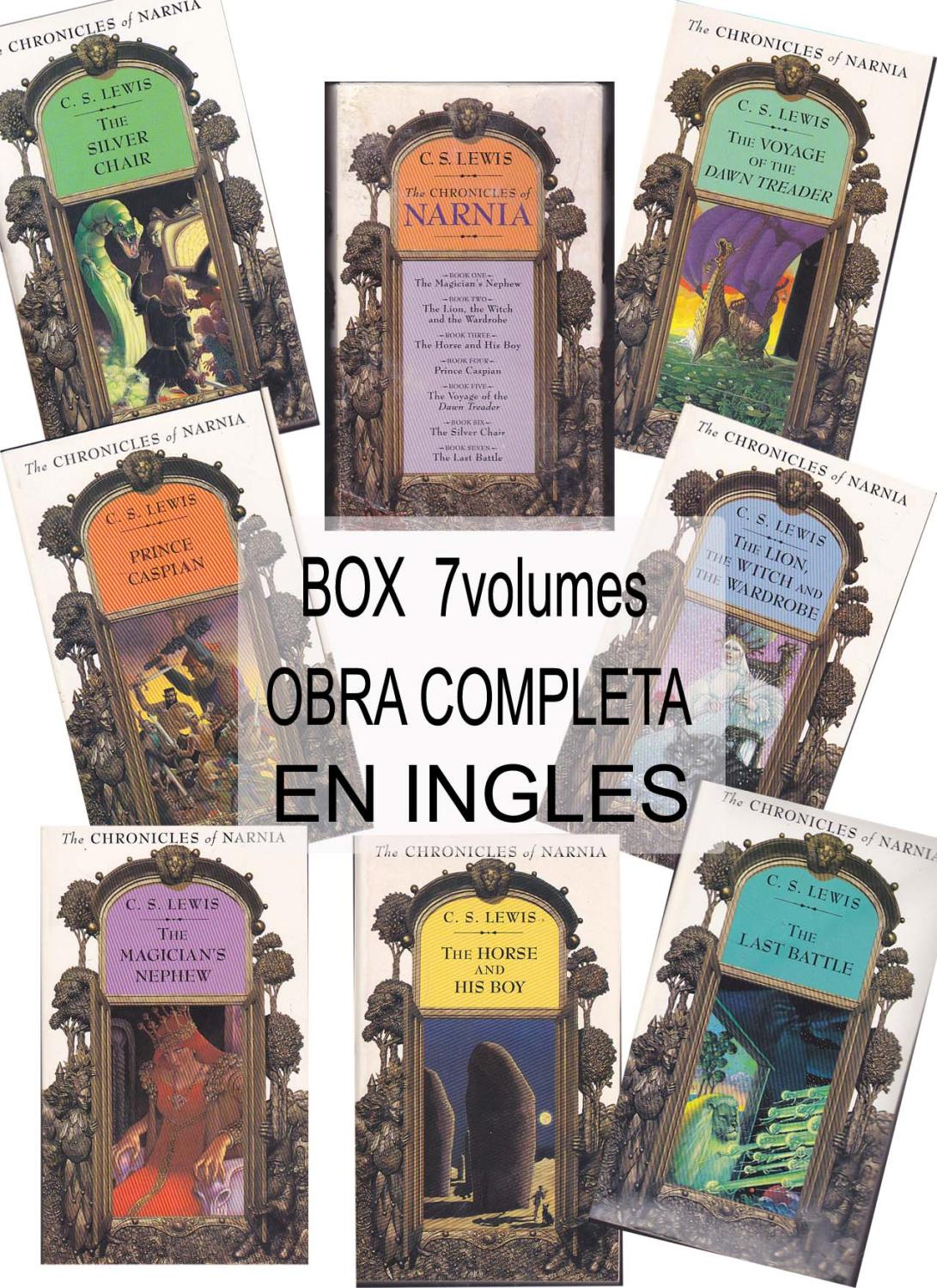 Narnia Libros The Chronicles Of Narnia Boxed Set Of 7