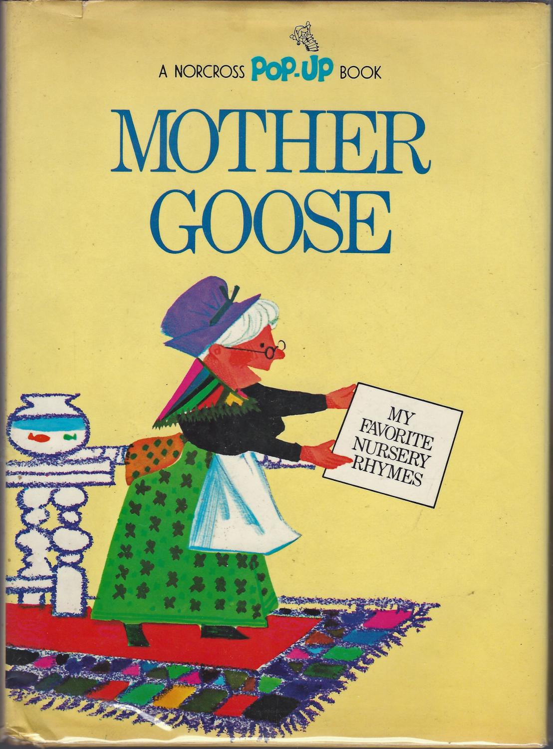 Pop Up Book Cover Mother Goose My Favorite Nursery Rhymes A