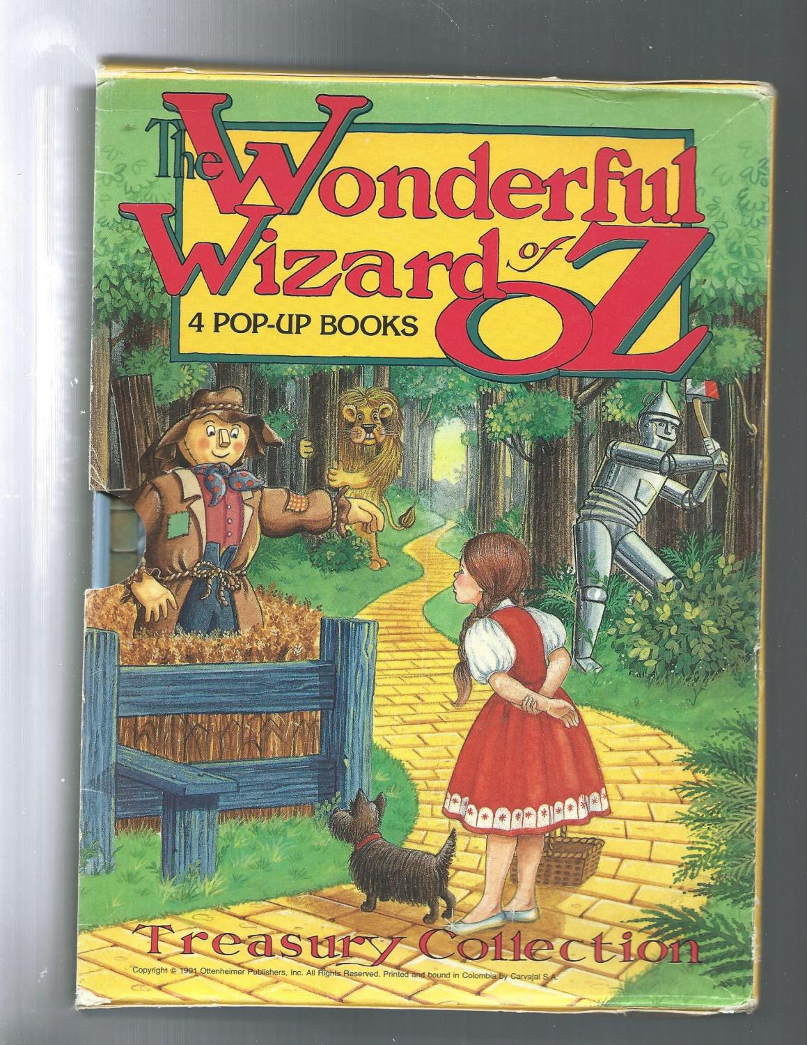 Pop Up Book Cover The Wonderful Wizard Of Oz 4 Pop Up Books
