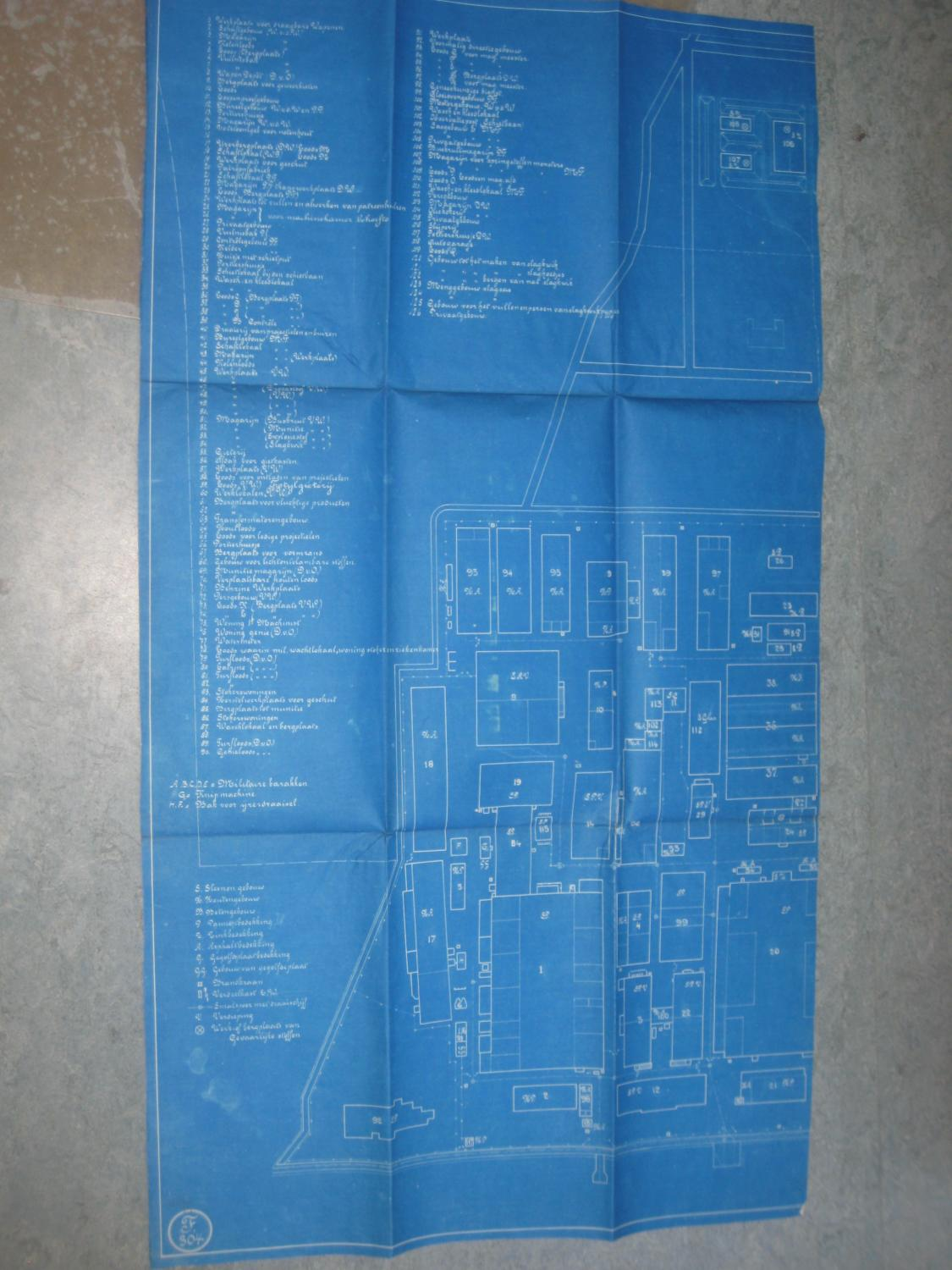 C En A Vesten Prewar Plan Map Blueprint Of Fokker Aviation