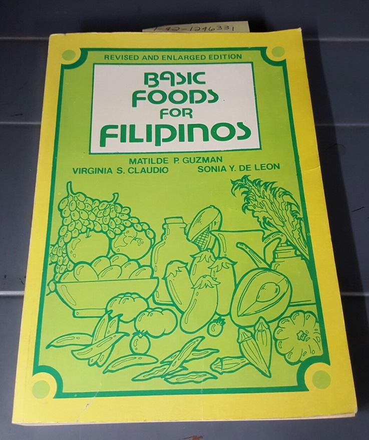 BASIC FOOD FOR FILIPINO by Guzman, Matilde P, Claudio, Virginia S