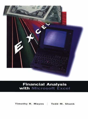 9780030180835 Financial Analysis With Microsoft Excel - AbeBooks