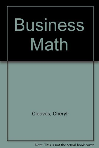 9780130946904 Business Math - AbeBooks - Cheryl Cleaves; Margie