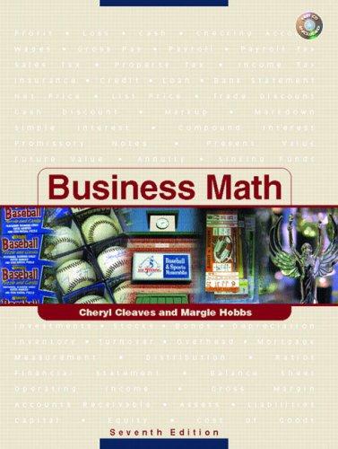 9780131606753 Business Math - AbeBooks - Cheryl Cleaves; Margie - business math