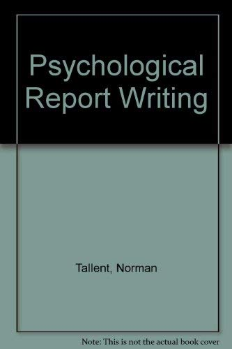 9780137325115 Psychological Report Writing - AbeBooks - Norman
