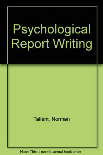9780137325535 Psychological Report Writing - AbeBooks - Norman